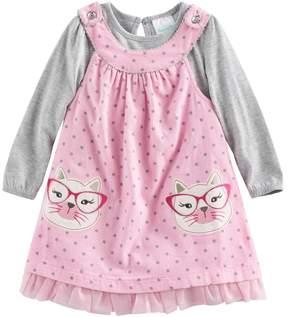 Nannette Baby Girl Cat Jumper & Bodysuit Set
