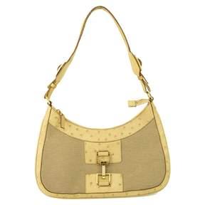 Gucci Beige Cotton Handbag Jackie - BEIGE - STYLE
