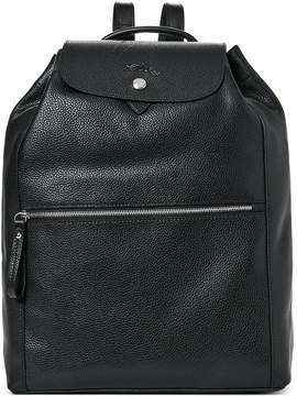 Longchamp Black Le Foulonne Leather Backpack