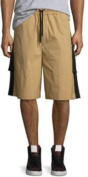 Public School Durero Herringbone-Tape Shorts, Sand