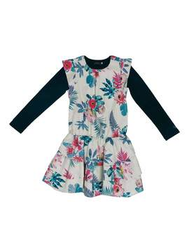 Catimini Floral Crewneck Dress Set