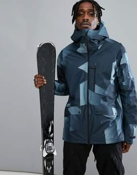 Peak Performance Hakuba Print Ski Jacket In Blue