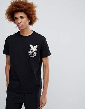 MHI T-Shirt With Embroidered Eagle In Black