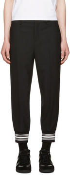 Neil Barrett Black Striped Cuff Trousers