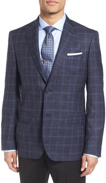 John W. Nordstrom Classic Fit Plaid Wool Blend Sport Coat