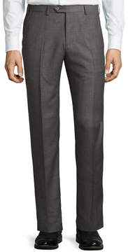 Giorgio Armani Soho Micro-Hopsack Trousers, Gray