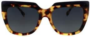 Fendi Sunglasses 87 /S 0CUI Blue Havana Gold / HD gray gradient lens