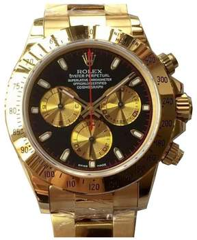 Rolex Cosmograph Daytona Champagne and Black Dial Men's Chronograph Watch