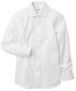 Isaac Mizrahi Boys 8-20) White Woven Sport Shirt