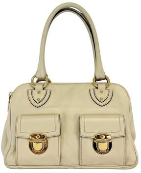 Marc Jacobs Cream Leather MultiSectional Bag - CREAM - STYLE