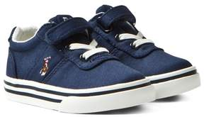 Ralph Lauren Navy Hanford Velcro and Lace Trainers