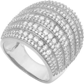 Crislu Multi-Row CZ Pave Ring