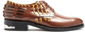 Toga Whipstitch-detail leather derby shoes