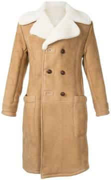 Kent & Curwen furry trim coat