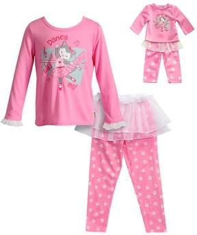 Dollie & Me Girls 4-14 Dance With Me Ballerina Cat Top