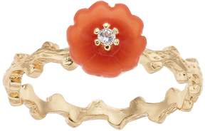 Lauren Conrad Peach Flower & Branch Ring