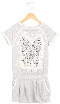 Junior Gaultier Girls' Lace Print Knit Dress w/ Tags