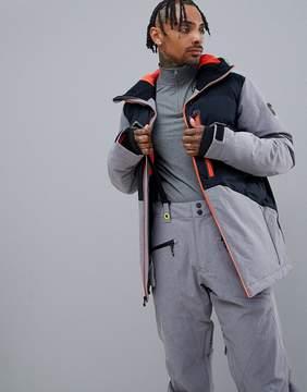 Quiksilver High West Ski Jacket in Black with Contrast Zip