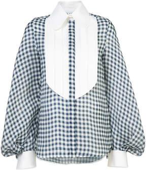 Dice Kayek gingham poet sleeve blouse