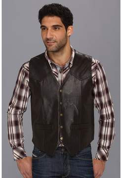 Roper Lamb Skin Western Vest with Yokes Men's Vest