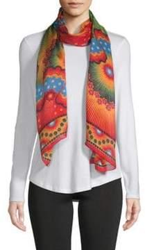 Valentino Multicolored Graphic Silk Stole