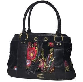 Roberto Cavalli Black Velvet Handbag
