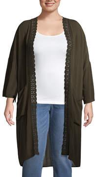 Boutique + + Long Sleeve Kimono - Plus