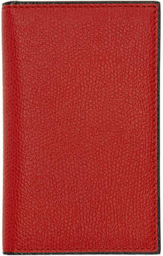 Valextra Red Business Card Holder