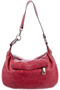 Marc Jacobs Stud-Embellished Leather Hobo - PINK - STYLE