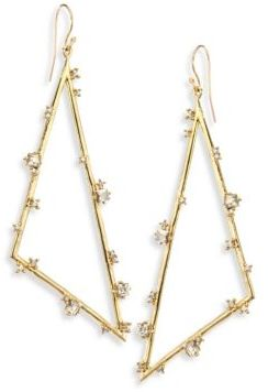 Alexis Bittar Elements Crystal Triangle Earrings