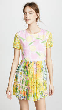 Moschino Short Sleeve Floral Dress