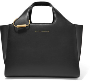 Victoria Beckham - Newspaper Small Leather Tote - Black