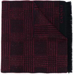 Canali tartan pattern scarf