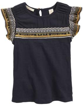 Scotch R'Belle SCOTCH RBELLE Embroidered Ruffle Top