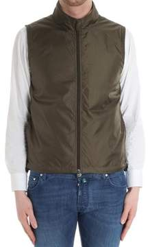 Aspesi Men's Green Polyamide Vest.