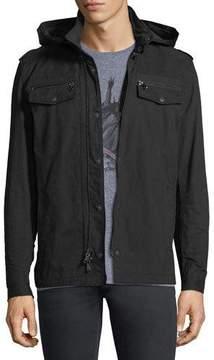 John Varvatos Double-Zip Hooded Shirt Jacket