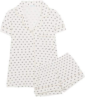 Eberjey Sleep Chic Printed Jersey Pajama Set - White