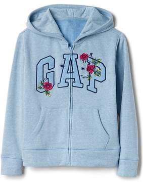 Gap Rose Logo Hoodie in Fleece