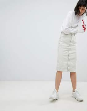 Weekday Button Front Slim Skirt