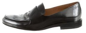 Jil Sander Leather Round-Toe Loafers