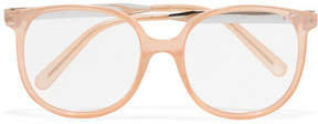 Chloé Myrte Square-frame Acetate And Gold-tone Optical Glasses - Blush