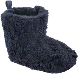 Luvable Friends Navy Sherpa Fleece Bootie - Girls