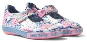 Lelli Kelly Kids Light Blue Justine Velcro Mary Jane Dolly Shoes