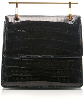 M2Malletier Mini Collectionneuse Crocodile Leather Bag