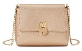 Lauren Ralph Lauren Metallic Faux Leather Crossbody Bag