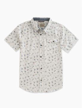 Lucky Brand Short Sleeve Sketchy Moto Print Shirt