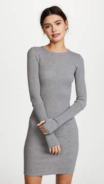Enza Costa Cuffed Long Sleeve Mini Dress