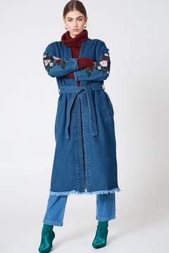 NA-KD Na Kd Embroidery Denim Coat
