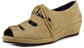VANELi Disko Open Toe Leather Wedge Heel.