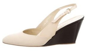 Walter Steiger Canvas Slingback Wedges